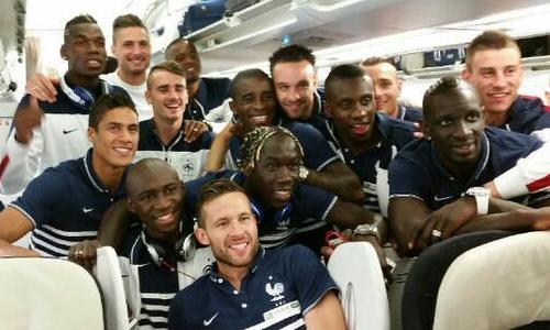 Selfie de l'Équipe de France