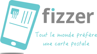 Fizzer - carte postale - start-up - application
