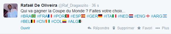 Twitter - Hashflag - Coupe du Monde 2014