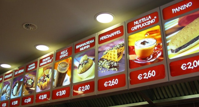 menu nutella bar
