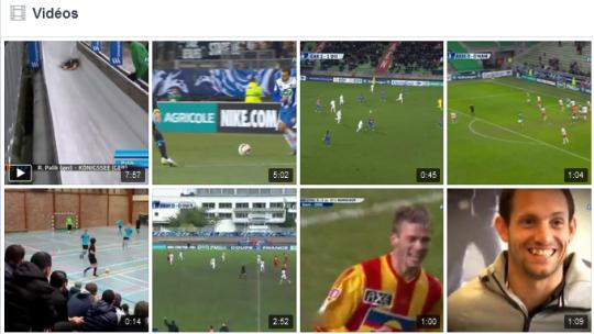 """Onglet """"vidéos"""" de la page Eurosport France"""