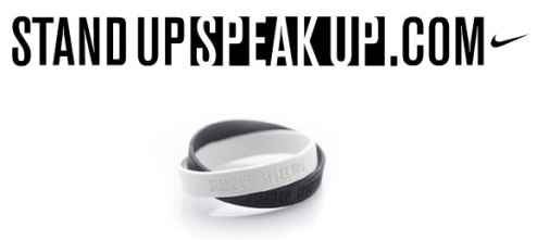 stand up speak up - nike