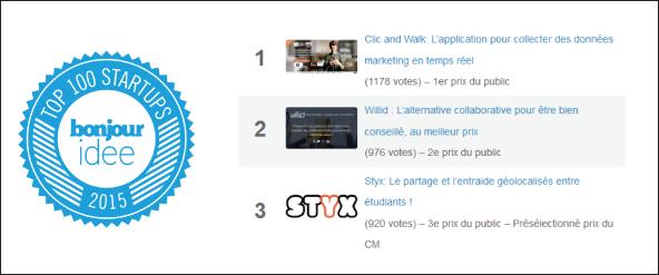 Top 3 + badge Bonjour idée 2